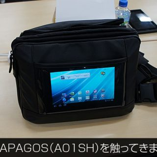 GALAPAGOS(A01SH)にぴったりなカバン「とれるカメラバッグ」