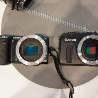 [ミラーレスカメラ比較]CanonのEOS Mと、SONYのNEX-5N・NEX-7を比較してきたぞ!