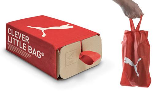 有名デザイナー「イヴ・ベアール」の考えたPUMAシューズのエコパッケージ「クレバーリトルバッグ」に感心したぞ!