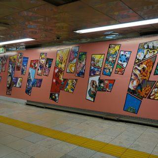 渋谷と新宿に突如現れたJOJO壁でジョジョ立ちしてきたぞ!