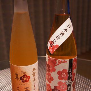 お酒に弱いうちの奥さんが選んだ梅酒「無ろ過梅酒 道灌」と「大雪渓 梅酒」を飲み比べたぞ!