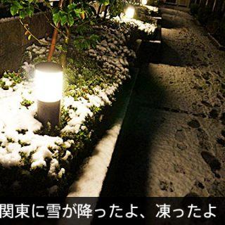 玄関前や道路にも!路面凍結の際は、凍結防止剤をまくと良いぞ!