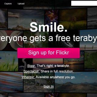 写真共有サイト「Flickr」が大幅リニューアル!んが、なぜかエラーで使えず困ったぞ!