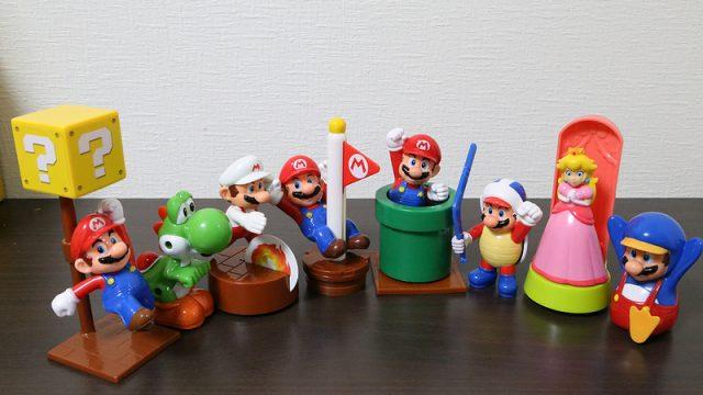 【マクドナルド】ハッピーセットでマリオのフィギュア、全8種コンプリートしたぞ!