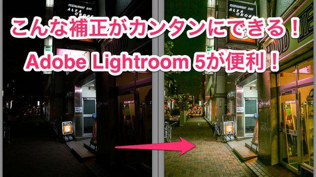 「Adobe Lightroom 5」を使うと暗い写真や子供の写真がグッと良い写真になるぞ!