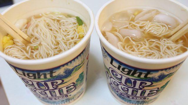 【新商品】カップヌードルそうめんを「温」「冷」の両方同時に食べてみたぞ!