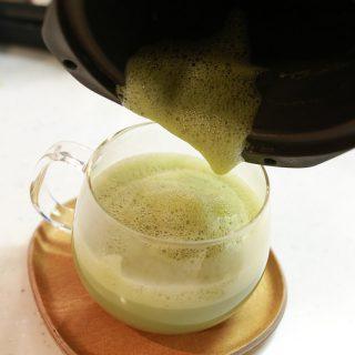 シャープお茶プレッソを使って、自宅で緑茶ラテを作ってみたぞ!