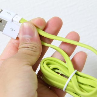 【Ingressに最適!】外出時の充電用に緑色のiPhone充電ケーブルを買ったぞ!ちなみに青もあるぞ!