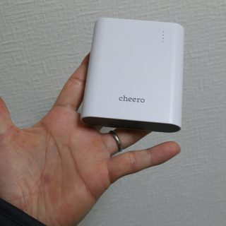 軽量&13400mAhの大容量モバイルバッテリー「Cheero Power Plus3」が絶対買いだぞ!