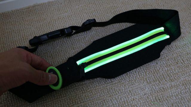 【送料込で450円!】Ingress活動だけでなく、夜のランニングや夜釣りにも最適な「LEDライトアップベルト」が良い感じだぞ!