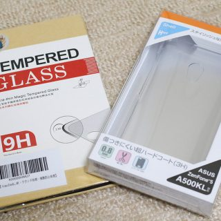 楽天モバイルのZenFone 5を使うにあたり購入したケースと保護ガラスフィルムが良い感じだぞ!