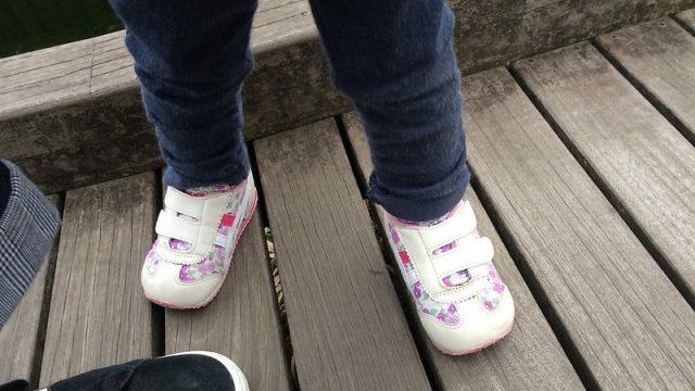 子どものセカンドシューズも、歩きやすさを考慮してアシックスのスクスクシリーズにしたぞ!