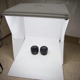 小物の撮影に効果大!組み立て式撮影スタジオ「Foldio2」が到着!早速使ってみたぞ!