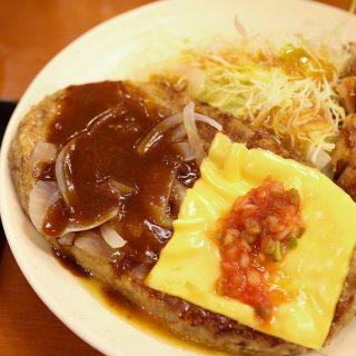 【期間限定】Sガスト!750円で300gハンバーグ+竜田揚げと大盛ご飯が食べられるぞ!
