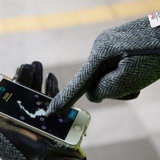 【Ingressにも!】グリフも出来るスマホ対応のオシャレな手袋!本革×ハリスツイードの大人向け手袋が良いぞ!