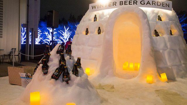 六本木に雪でできたカマクラが出現っ!キリンのイベントで雪の中でグランドキリンを堪能したぞ!【AD】