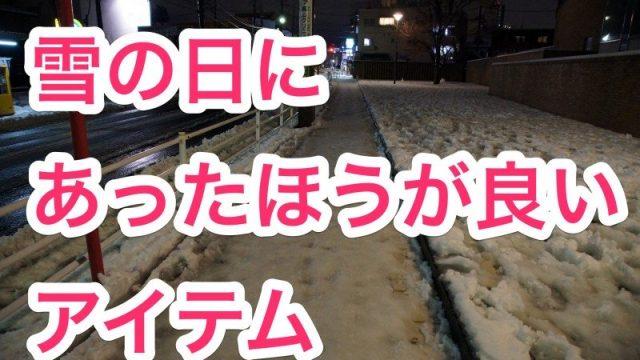 【雪対策!】ヤバイと思う前に!雪の日にあった方が良いアイテムを紹介するぞ!