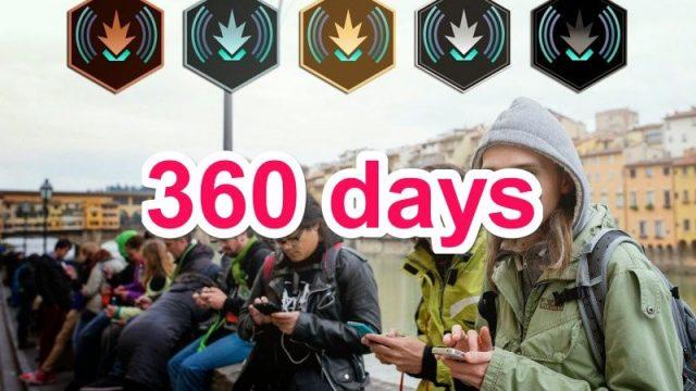 【Ingress】毎日連続ハックのメダル「ソジャーナ」、360日でオニキスGETしたぞ!