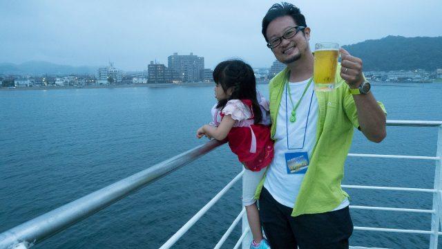 海風が気持ち良い船上ビアガーデンっ!「東京湾納涼船」で夕日を堪能しながら酒が飲めるぞ! #東京湾フェリーたのしー