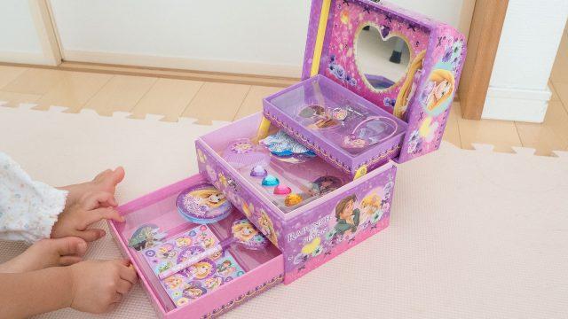 3歳女の子のオシャレ用に!ディズニーのジュエリーボックスが良い感じだぞ!