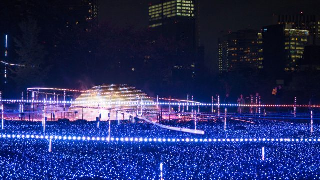 東京ミッドタウンのイルミネーション!今年は曜日によって演出が違うぞ!