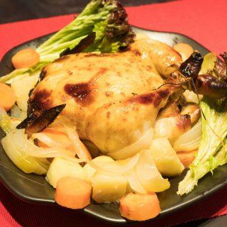 ヘルシオで作る!丸鷄のローストチキン(照り焼き)が食育にもなりめっちゃジューシーで美味しいぞ!