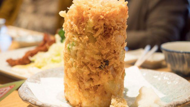 【沼津港】タワー型かき揚げで有名な「魚河岸 丸天」で大ボリュームの刺身やかき揚げが美味しいぞ!
