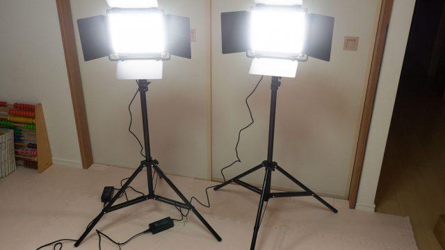 室内・野外での撮影用の照明に!NEEWERのLEDライト+スタンドセットが便利だぞ!