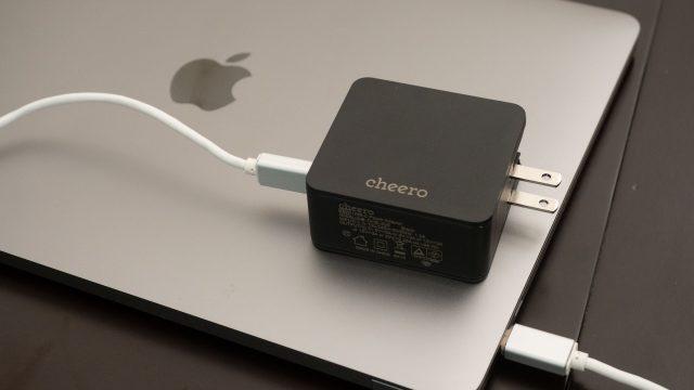 【本日発売!】cheeroからMacBookなどの充電に最適・コンパクトなUSB Type-CのACアダプタが発売だぞ!