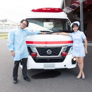 日産のはたらくクルマ!最新の日産の救急車「パラメディック」を詳しく紹介するぞ! #日産あんばさだー #はたらくクルマ