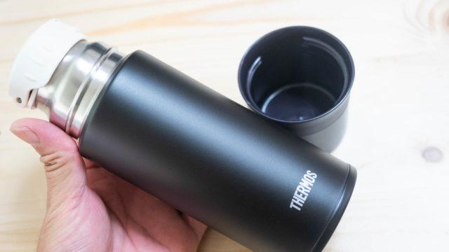 コップ付きで最小サーモス水筒!ペットボトルを水筒がわりにしてる人はこれに置き換えると良いぞ!
