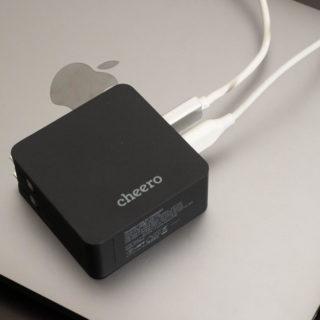 【新発売】cheeroからMacBookとiPhoneを同時充電可能なUSB-C45W+12Wの充電器が発売だぞ!