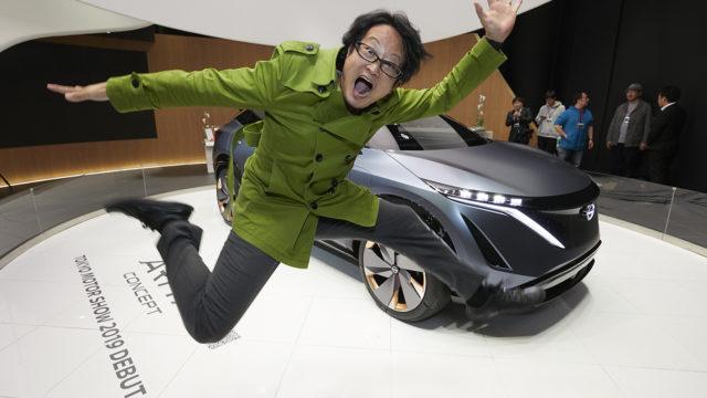 日産次世代EVコンセプトカー「アリアコンセプト」の実車を間近で見てきたぞ! #日産あんばさだー