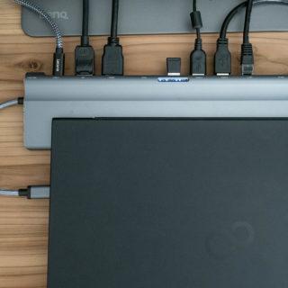 MacでもWindowsでも!ノートPC+ディスプレイを使う人へ!USB-Cドックを使えば着脱時の効率UPだぞ!