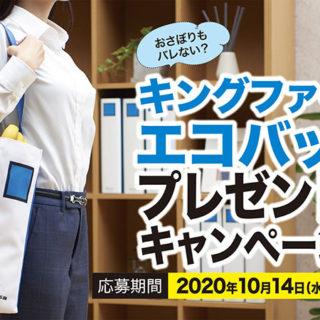 これは応募する!キングジムのファイルがエコバッグになった!SNSで応募だぞ!