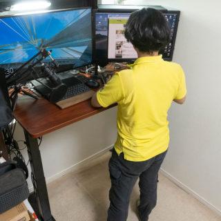 電動式スタンディングデスク「FLEXISPOT E7」はテレワークで運動不足な人にオススメだぞ!