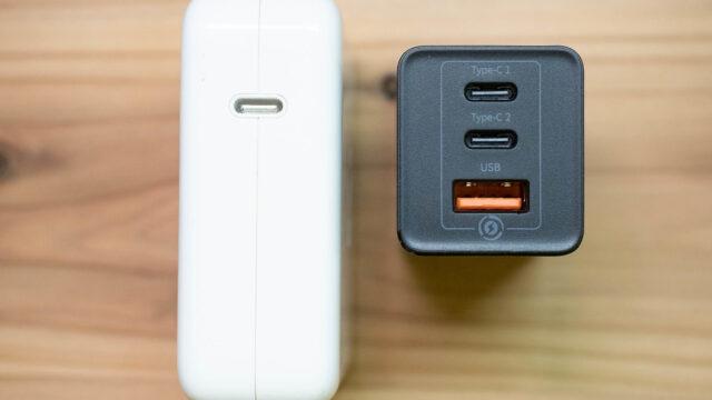 【激安】最大65W出力対応のコンパクト充電アダプター!急速充電対応USB-Cケーブルまでセットで3480円はお買い得だぞ!