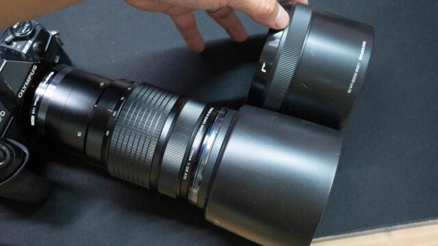 OLYMPUS 「ED40-150mm F2.8PRO」のレンズフードが故障!互換品としてCanon用のレンズフードが使えるぞ!