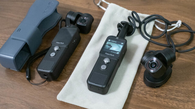 業界初、セパレートタイプのカメラ付きジンバルがクラウドファンディングに登場だぞ!